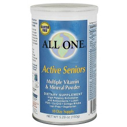 All One Active Seniors multiple vitamin and mineral powder - 5.29 oz