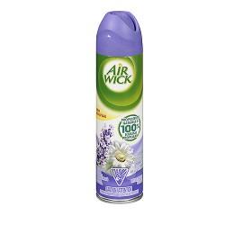 Air Wick Aerosol Spray by Wizard, Dual Action - Lavender Field - 8 oz