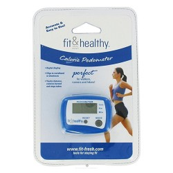 Fit and healthy calorie pedometer for walkers - 1 ea