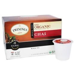 Twinings of london - 100% organic chai black tea - 12 k-cup(s)
