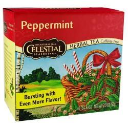 Celestial seasonings herb tea peppermint, caffeine free - 40 tea bags