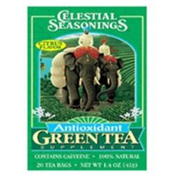 Celestial seasonings antioxidant green tea supplement with citrus flavor - 20 bags, 6 pack