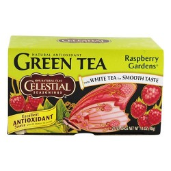 Celestial seasonings raspberry gardens green tea bags, 100% natural - 20 ea, 6 pack