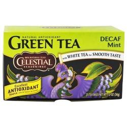 Celestial seasonings decaf mint green tea20 tea bags