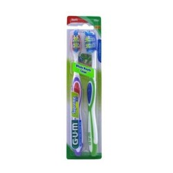 Gum supreme soft advance plaque toothbrush twin pack, full/soft - 2 ea