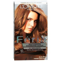 Loreal Feria multi faceted shimmering haircolor, 60 crystal brown, light brown - 1 ea