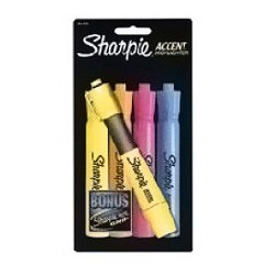 Sharpie Accent Tank Style Highlighters - 4 ea / Pack, 6 Packs