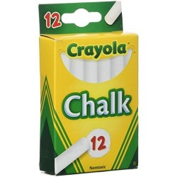 Crayola white chalkboard chalk -  12 ct, 6 pack