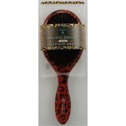 Earth therapeutics large lacquer pin cushion brush with leopard design - 1 ea