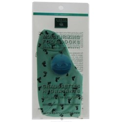 Earth therapeutics - moisturizing foot socks green - 1 pair