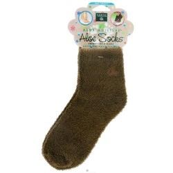 Earth therapeutics aloe sock foot therapy to pamper & moisturize - brown - 1 pair