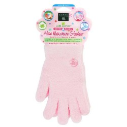 Earth Therapeutics Aloe Moisture Gloves Ultra Plush, Pink - 1 pair