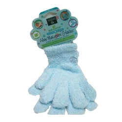 Earth Therapeutics Ultra Plush Aloe Moisture Gloves, Blue - 1 pair