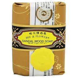 Bee and Flower Sandal wood bar soap - 2.65 oz, 12 pack