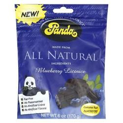 Panda natural blueberry licorice bag 6 oz - 12 pack