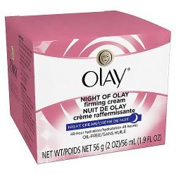 Olay Night Firming Cream, Oil-Free, Restores Hydration - 2 oz