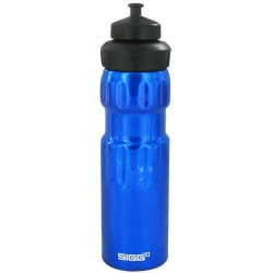 Sigg aluminum water bottle wide mouth sport dark blue - 0.75 ltrs