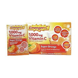 Emergen-C 1000 mg vitamin C fizzy drink mix, super orange - 30 packets
