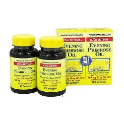 American Health royal brittany evening primrose oil twin pack 500 mg, 100+100 Softgels