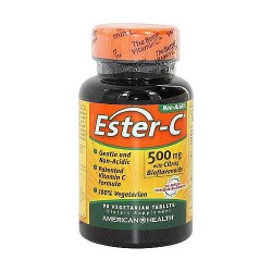 American Health Ester C with citrus bioflavonoids 500 mg Immune Support vegetarian tablets - 90 ea
