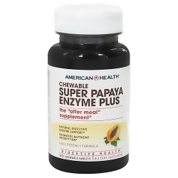 American Health super papaya enzyme plus chewable tablets - 90 ea