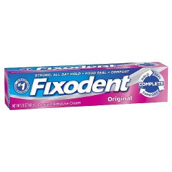 Fixodent Original Denture Adhesive Cream - 2.4 oz