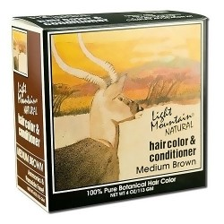 Light Mountain Natural Hair Color And Conditioner, Medium Brown - 4 oz