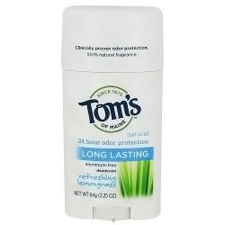Toms of Maine Natural Long-Lasting Deodorant Stick Lemongrass - 2.25 oz (64 g)