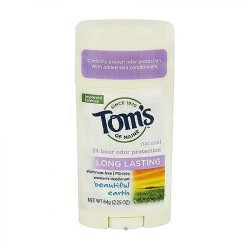 Toms Of Maine beautiful earth long lasting deodorant, 2.25 oz, 6 pack