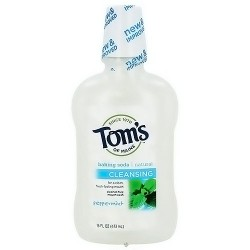 Toms of Maine Natural Baking Soda Cleansing Mouthwash, Peppermint - 16 oz