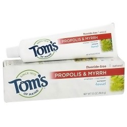 Toms of Maine Natural Propolis and Myrrh Toothpaste, Fennel - 5.5 oz, 6 pack