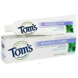 Toms of Maine whole care toothpaste, Peppermint - 4.7 oz