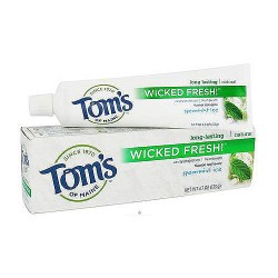 Toms of maine wicked fresh spearmint ice fluoride toothpaste - 4.7 oz, 6 pack