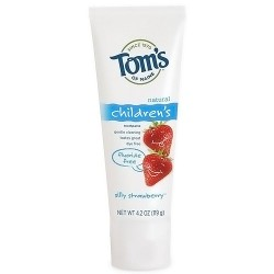 Toms of maine natural fluoride free toothpaste for children, silly strawberry - 4.2 oz