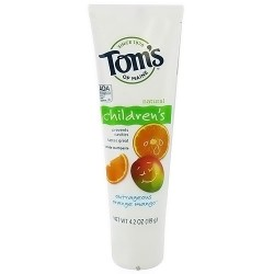 Toms of Maine Childrens Toothpaste, Outrageous Orange Mango - 4.2 oz