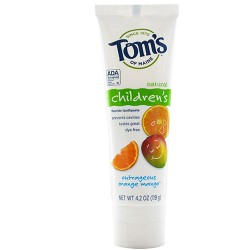 Toms of maine children's fluoridge toothpaste outrageous orange mango - 4.2 oz