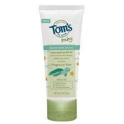 Tom's of Maine Natural Baby Sunscreen Lotion Cream, Fragrance Free - 3oz