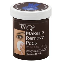 Andrea eye q's 65-count moisturizing makeup remover pads - 3 ea
