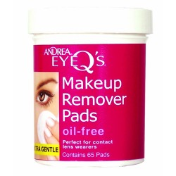 Andrea eye q's eye makeup remover pads oil-free 65 pads - 3 ea