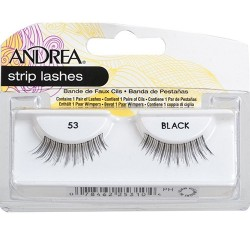 Andrea eyelash strip lashes black - 4 ea