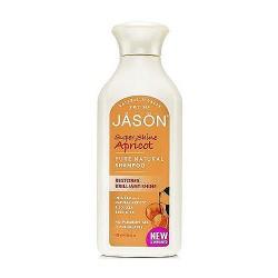 Jason Super Shine Pure Natural Shampoo, Apricot - 16 oz