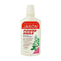 Jason power smile brightening peppermint all natural mouthwash - 16 oz