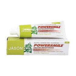 Jason Natural Powersmile Enzyme Brightening Toothpaste, Peppermint - 4.2 oz