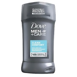 Dove men plus care powerful protection antiperspirant deodorant, clean comfort - 2.6 oz