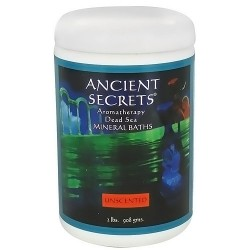 Ancient Secrets aromatherapy dead sea mineral baths, Unscented, 2 lbs