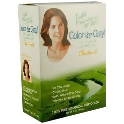 Light Mountain Natural Gray Hair Color and Conditioner Kit, Chestnut - 7 oz