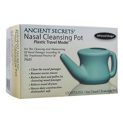 Ancient Secrets neti nasal cleansing pot plastic, Travel Model, 1 unit