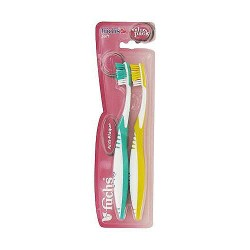 Fuchs Anti-Plaque Nylon Bristle Compact Head Soft Toothbrush - 2 ea