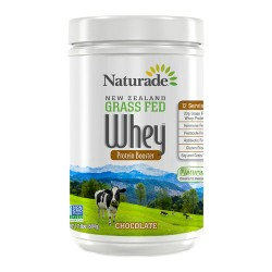 Naturade new zealand grass fed whey protein booster chocolate - 17.8 oz