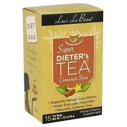 Natrol Laci Le Beau Super Dieters Tea Bags, Caffeine Free - 15 ea